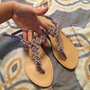 Purple Jewel Sandals💠